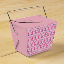 Pink Ribbons for Cancer Support Favor Box