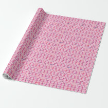 Pink Ribbons for Cancer Support Wrapping Paper