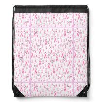 Pink-Ribbons & Hearts_ Drawstring Bag