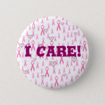 Pink Ribbons,I Care!_ Button