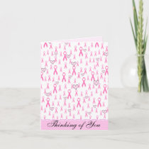 Pink Ribbons,I Care!_ Card
