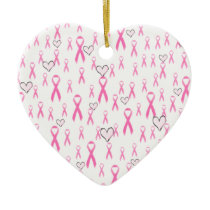 Pink Ribbons,I Care!_ Ceramic Ornament