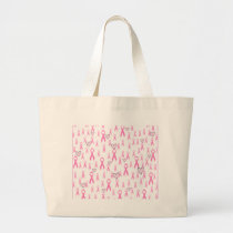Pink Ribbons,I Care!_ Large Tote Bag