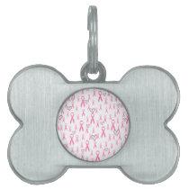 Pink Ribbons,I Care!_ Pet Name Tag