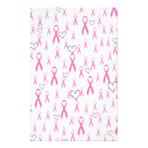 Pink Ribbons,I Care!_ Stationery