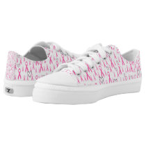 Pink-Ribbons Of Hope_ Low-Top Sneakers