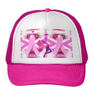 Pink Ribbons of Love & Hope_ Trucker Hat
