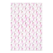 PINK RIBBONS PATTERN STATIONERY