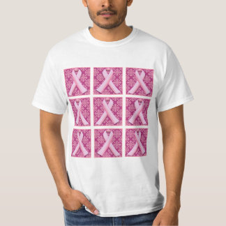 Pink Ribbons Pop Art T-Shirt