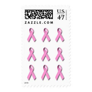 Pink Ribbons Postage Stamp