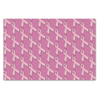 """Pink Ribbons Tiled Pattern 10"""" X 15"""" Tissue Paper"""