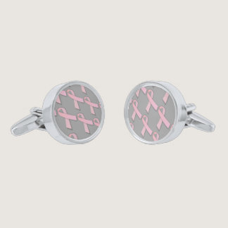 Pink Ribbons Tiled Pattern Cufflinks