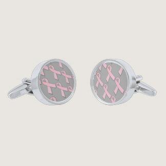 Pink Ribbons Tiled Pattern Cufflinks