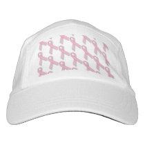 Pink Ribbons Tiled Pattern Hat