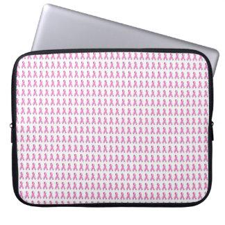 Pink Ribbons Tiled Pattern Laptop Computer Sleeve