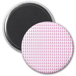 Pink Ribbons Tiled Pattern Magnet