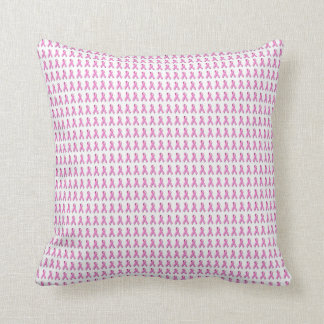 Pink Ribbons Tiled Pattern Pillow