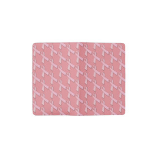 Pink Ribbons Tiled Pattern Pocket Moleskine Notebook