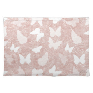 Pink Rice Paper Butterflies Placemat
