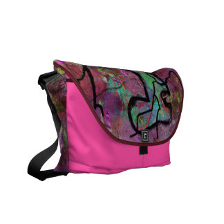 Pink Riot Courier Bag