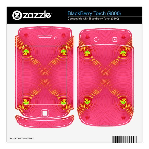 pink ripple 2 decal for BlackBerry