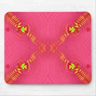 pink ripple mouse pad