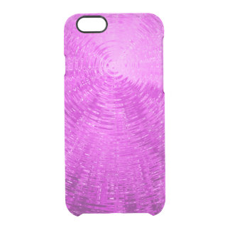 Pink Ripples Clear iPhone 6/6S Case