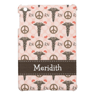 Pink RN Nurse Caduceus iPad Mini Cases