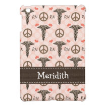 Pink RN Nurse Caduceus iPad Mini Cover