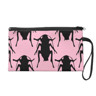 pink roaches bag purse wristlet