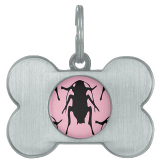 Pink Roaches Pet ID Tag