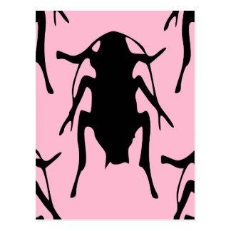 Pink Roaches Postcard