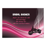 Pink road biker wedding bridal shower invitation custom announcement