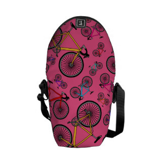 Pink road bikes messenger bag