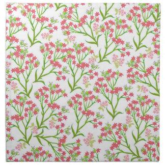 Pink Roadside Wildflowers Napkin
