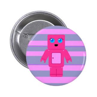 Pink Robot Button