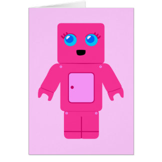 Pink Robot Card
