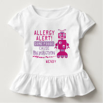 Pink Robot Food Allergy Alert Shirt