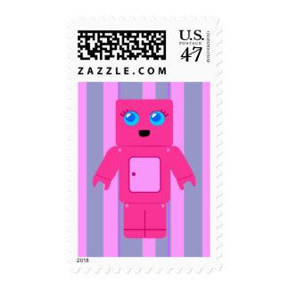 Pink Robot Postage