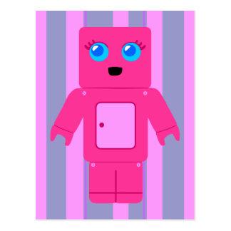 Pink Robot Postcard
