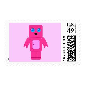 Pink Robot Stamp