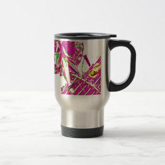 Pink Robot Travel Mug