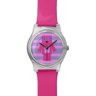 Pink Robot Wrist Watch
