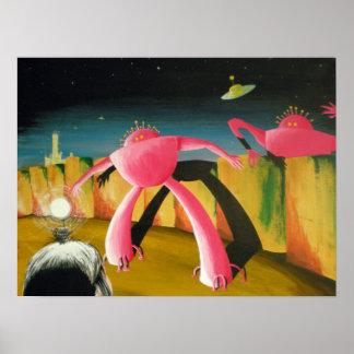 Pink Robots Print