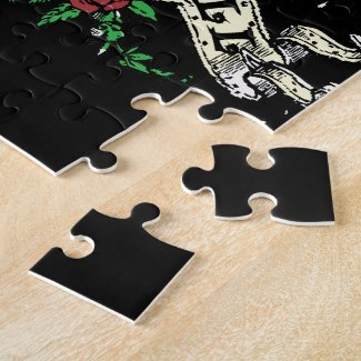 Pink Rock n Roll Guitar Jigsaw Puzzle puzzle