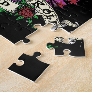 Pink Rock n Roll Guitar Jigsaw Puzzle