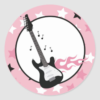 PINK ROCK STAR GUITAR Envelope Seals