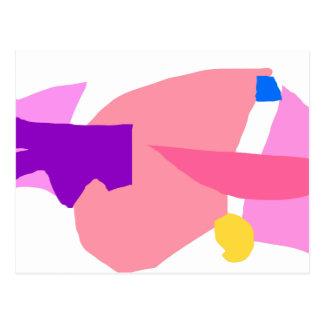 Pink Rocket Smile Light Speed 1000 Years Post Card