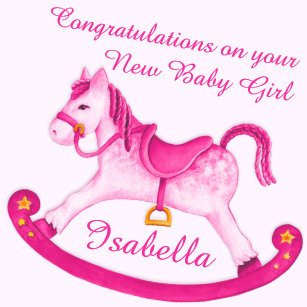 Horse Baby Girl Wrapping Paper | Zazzle