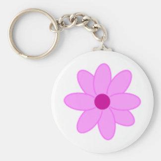 Pink Rocks! Basic Round Button Keychain
